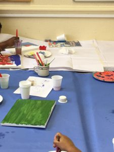 Painting activities with foster children by Ikon Fostering of Walsall, West Midlands