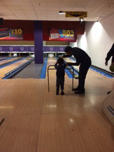 Bowling activities for foster children with Ikon Fostering of Walsall, West Midlands, UK