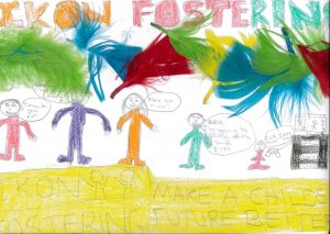 Foster childrens drawing of Ikon Fostering of Walsall
