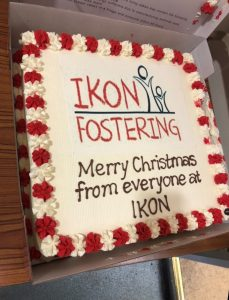 A Xmas cake and celebration from Ikon Fostering of Walsall